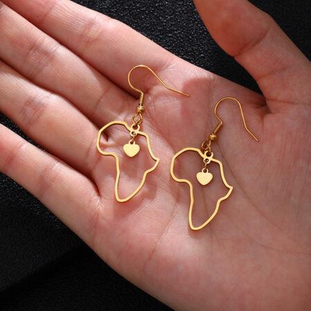 Africa heartfelt earrings